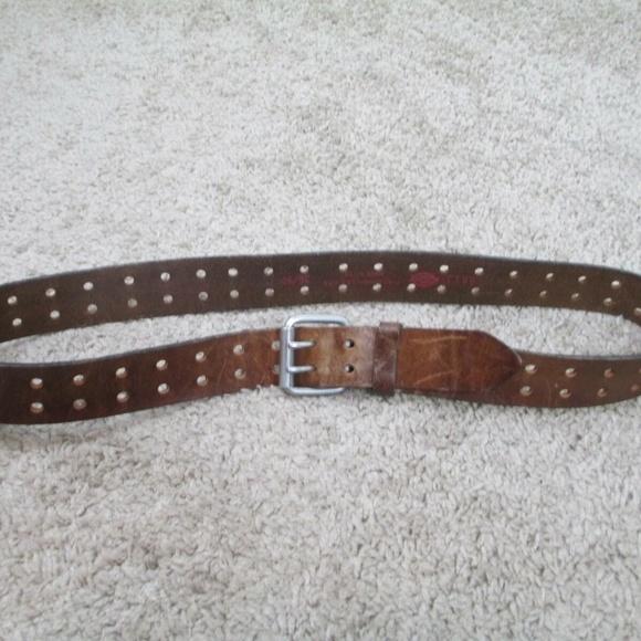 Dickies Other - Dickies Leather Belt Double Holes 36 Brown Biker